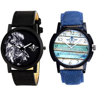 Spanish Special Colour And White Lion Men's Combo Quartz Watch By Fashion Gallery Mall