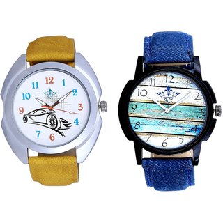 Spanish Special Colour And Rolls-Royce Car Men's Combo Wrist Watch By Fashion Gallery Mall