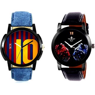 2 Jaguar And Yelow 10 Analogue Men's Combo Watch By Vivah Mall