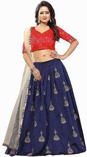 Bhuwal fashion Banglory silk semi stiched embroidery lehanga choli -TMM6060