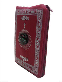 ClaraStar Pocket Prayer Mat Portable,Travel Friendly with Compass. Light Thin Muslim/Islamic Janamaz with Qibla Finder