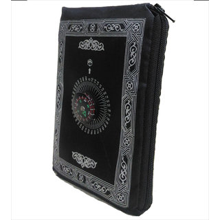 ClaraStar Pocket Prayer Mat Portable,Travel Friendly with Compass. Light Thin Muslim/Islamic Janamaz with Qibla Finder