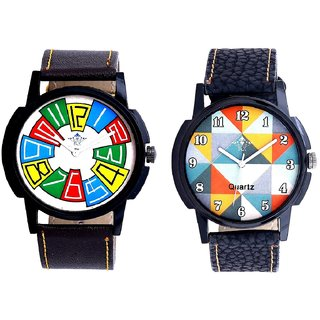 Exclusive Multi Colour And Fancy Orange Colour Men's Combo Analog Wrist Watch By Vivah Mart