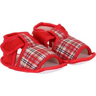 Neska Moda Baby Boys and Girls Pink Checks Cotton Velcro Booties For 0 To 12 Months Anti Slip high quality cheap online yRx9nKFNbl