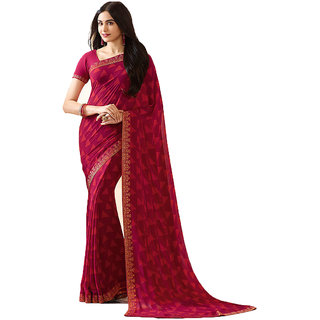 Indian Style Sarees New Arrivals Latest Women's Bollywood Designer Multicolor Georgette Printed Saree With Blouse
