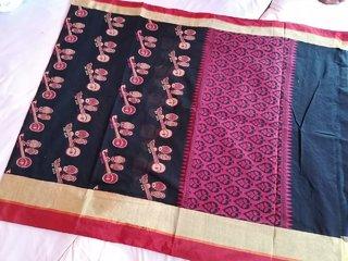 Handloom Woven Cotton Saree