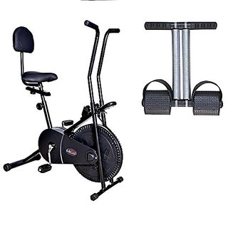 Lifeline Exercise Cycle 102 with Back Seat for Weight Loss at Home Bonus Tummy Trimmer for Stomach Exercise