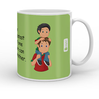 Indigifts Dad Birthday Gifts Love Is The Greatest Gift Quote Father Son Green Coffee Mug