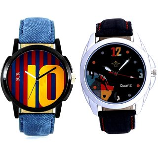 Goal Achived Art And Yelow 10 Analogue Men's Combo Watch By Gujrat Hub