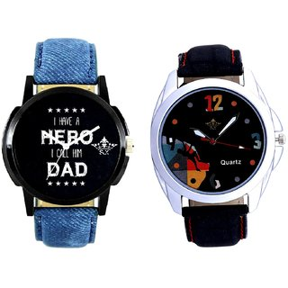 Goal Achived Art And My Ded My Hero Men's Combo Wrist Watch By Gujrat Hub