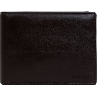 SCHARF Mens In the Nick Of Time Genuine Leather RFID Bi-Fold Wallet