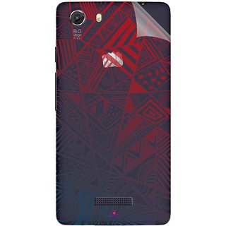 Snooky Digital Print Tpu Transpanent Mobile Skin Sticker For Micromax Canvas Unite 3