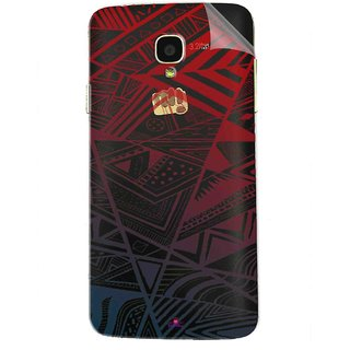 Snooky Digital Print Tpu Transpanent Mobile Skin Sticker For Micromax Bolt Q325