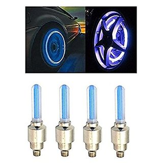 Autonext-Car Tyre LED Light with Motion Sensor - Blue Color ( Set of 4) Chevrolet Aveo U VA