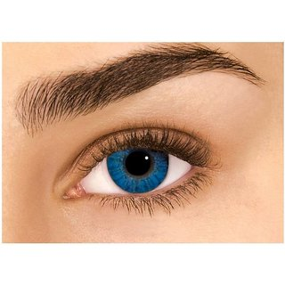 Optify Aqu-Blue Monthly Color Contact Lens (4.5.0 Power, Aqu-Blue)
