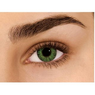 Optify Green Monthly Color Contact Lens (1.5.0 Power, Green)