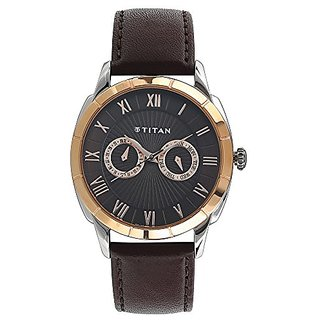 Titan Smartsteel Analog Brown Dial Mens Watch-1489KL02