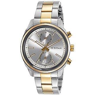Titan Neo Analog Grey Dial Mens Watch-1733BM01