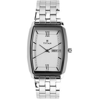 Titan Karishma Analog White Dial Mens Watch-NK1737SM01