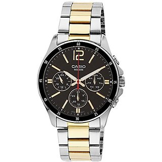 Casio Enticer Analog Black Dial Mens Watch - MTP-1374SG-1AVDF (A953)