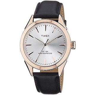 Timex Analog Silver Round Mens Watch-TW000Y900