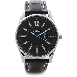 Titan Analog Black Round Mens Watch-9322SL04
