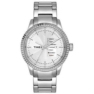 Timex Analog Silver Round Mens Watch-TWEG15100