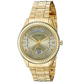Timex Analog Beige Round Mens Watch-TW0TG6202