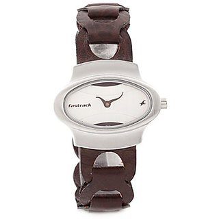 Fastrack Analog White Oval Womens Watch-6004SL01