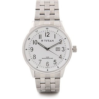 Titan Analog White Round Mens Watch-9441sm02