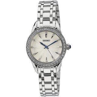 Seiko SRZ385P1 Analog White Dial Women's Watch (SRZ385P1)
