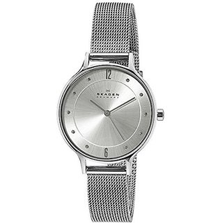 Skagen Analog Silver Round Womens Watch-SKW2149