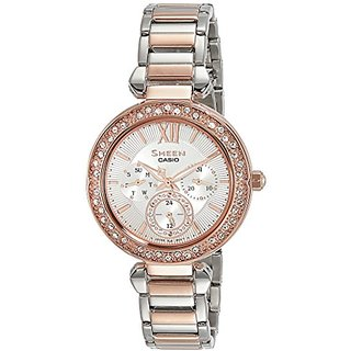 Casio Sheen Analog Silver Dial Womens Watch-SHE-3061SPG-7AUDR (SX213)