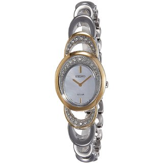 Seiko SUP296P1 Solar Analog Mother Of Pearl Dial Women's Watch (SUP296P1)