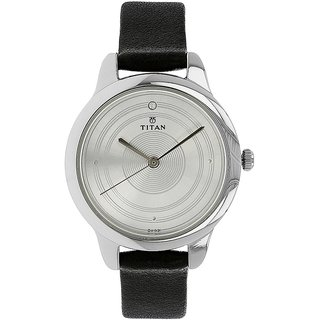 Titan Analog White Round Womens Watch-2481SL02