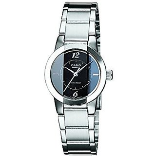 Casio Analog Black Round Womens Watch-SH33