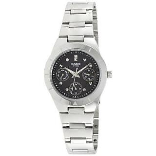 Casio Analog Black Round Womens Watch-A528