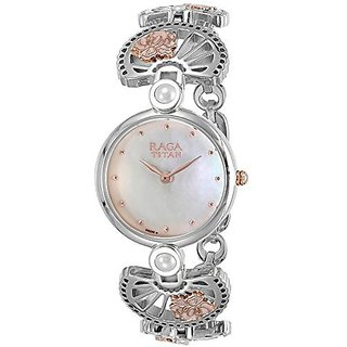 Titan Analog Silver Round Womens Watch-2567KM01