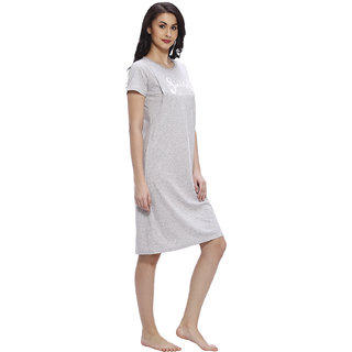 7c3c635f295fd Buy Vixenwrap Cloud Grey Cotton Printed Nursing Dress Online - Get 40% Off