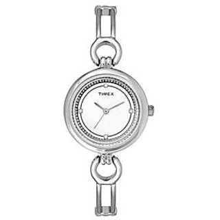 Timex Analog White Round Womens Watch-TWEL11400