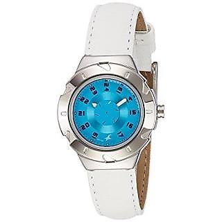 Fastrack Analog Blue Round Womens Watch-6157SL02