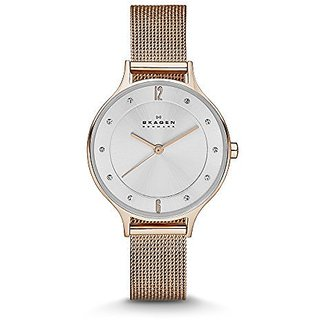 Skagen Analog Silver Round Womens Watch-SKW2151
