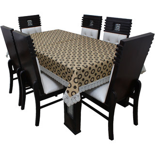 Dream Care Designer  Waterproof Dining Table Cover 6 Seater 60x90 Inches SAMS02