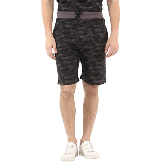 Urbano Fashion Men's Camouflage/Military Printed Grey Cotton Shorts