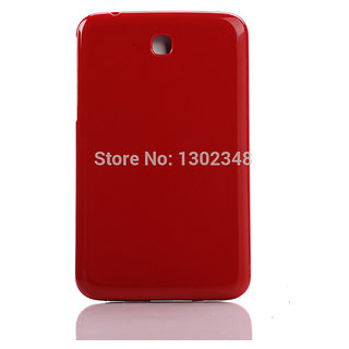 SGP White High Glossy Hard Back Case Cover Pouch for Samsung Galaxy Tab 3 P3200 - Red
