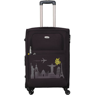 Timus Salsa Black Check-in 65 CM 4 Wheel Strolley Suitcase For Travel
