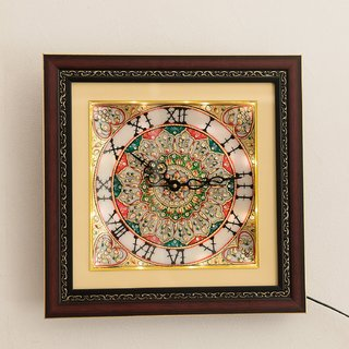 Ages Art Marble Decorative Flower Design Wall Clock