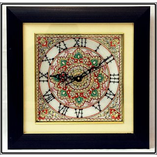 Ages Art Marble Decorative Square Wall Clock