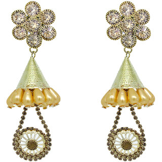 KailasMegha Fashion Jewelley Golden Earrings Party Wear Jewellery for Girls and Women
