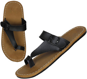 Leavess Men Brown Color Slippers For Men